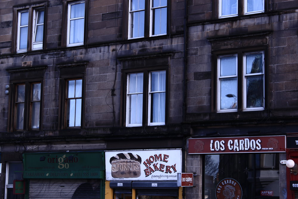 An Italian pizzeria, a Scottish bakery and a Mexican canteen; all next to one another and none of them out of place on Leith Walk.