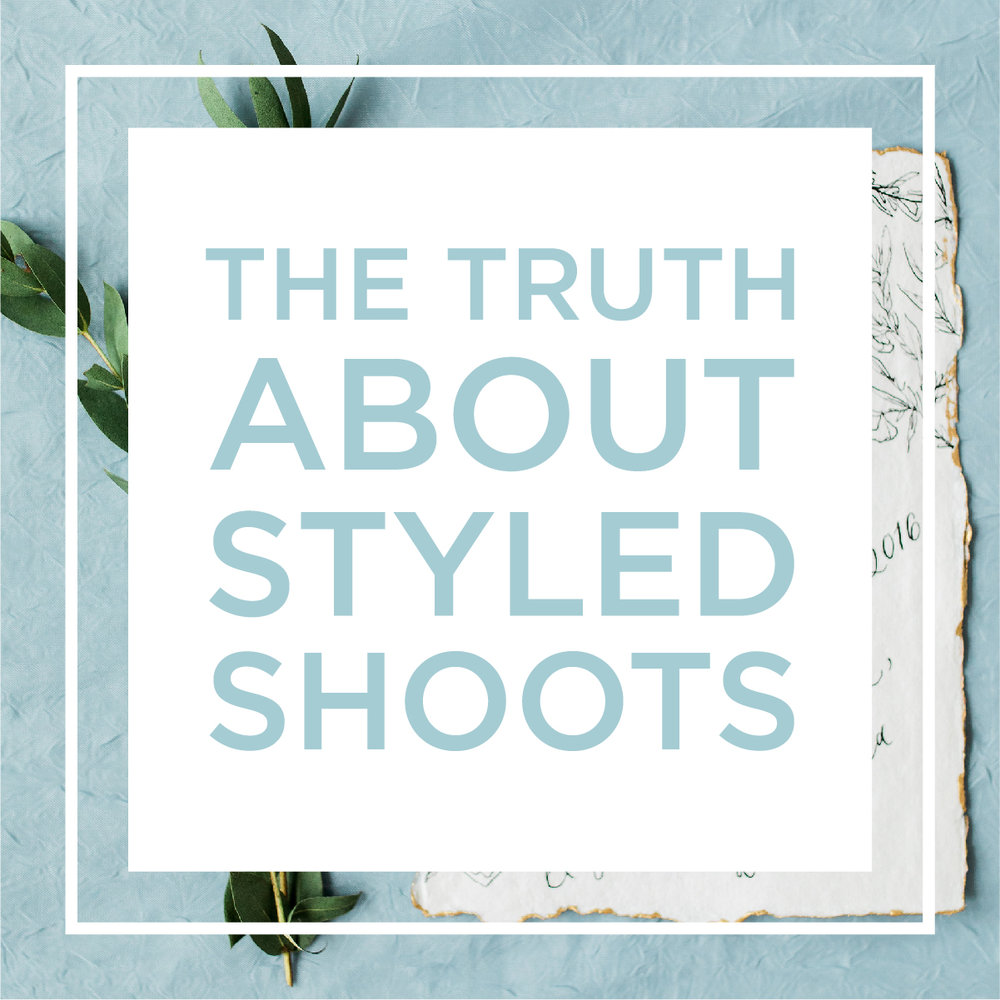 Sarah B Blog feature - the truth about styled shoots