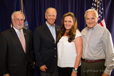 Congressman Tim Bishop, Vice President Joe Biden, Marie & Manny Arturi