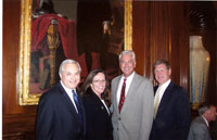Manny, Marie, Vic Hadfield with Former Congressman Jack Quinn, R-NY