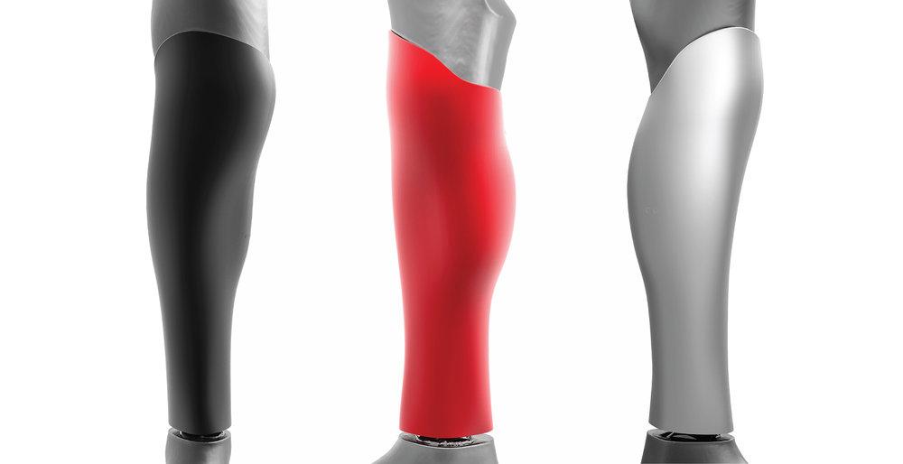 Carcasa para la prótesis por debajo de la rodilla hecha a medida