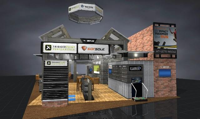 Rendering of Custom Exhibit Booth for IMPLUS