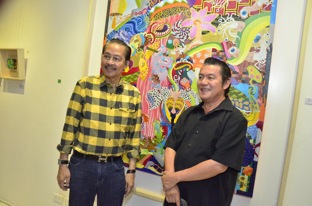 Guest of Honor Ramon Orlina and Art Critic Cid Reyes