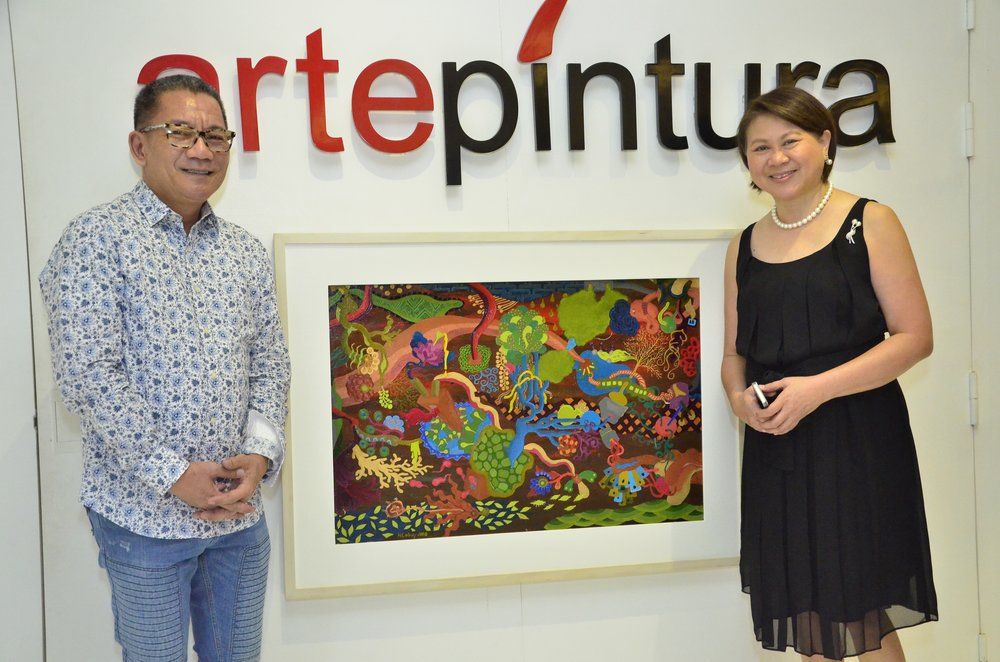 With Artist Playground's PR & Publicist Mr. Toots Tolentino and Ms. Addie Cukingnan of Arte Pintura