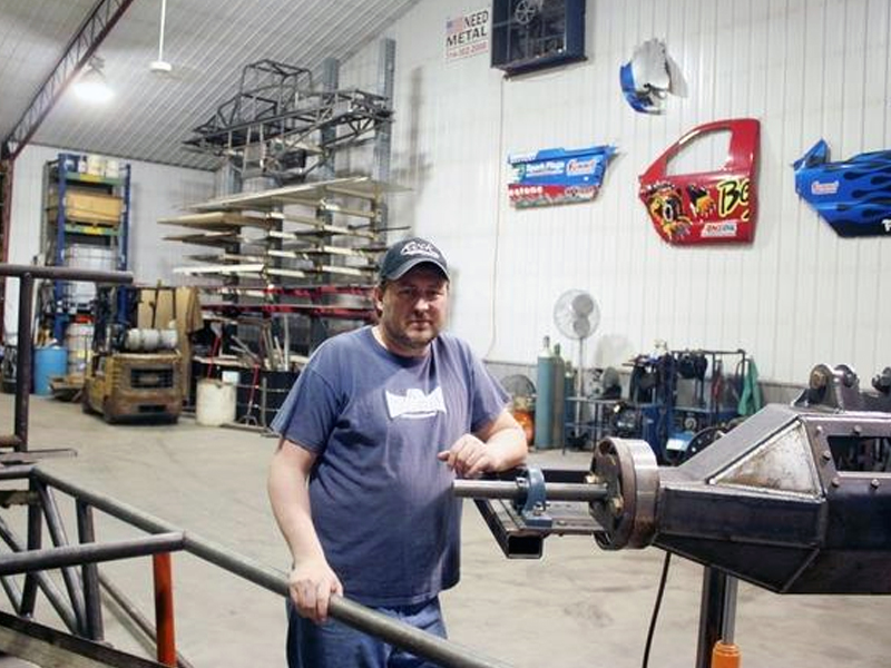 Concussion Motorsports co-owner Rich Inman is shown in his shop in Ellis Grove on Monday. Inman, along with his wife, Shannon, have built more than 20 monster trucks, including one of the biggest names in the business - Bigfoot.