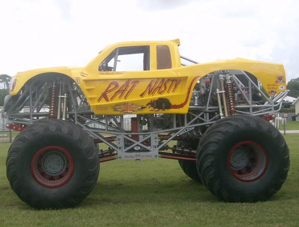 The Rat Nasty monster truck.