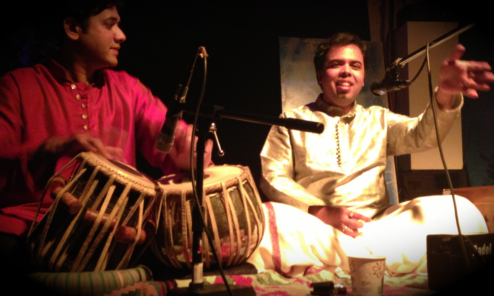 with Nitin Mitta, Late Night concert in Brooklyn, NY 2013