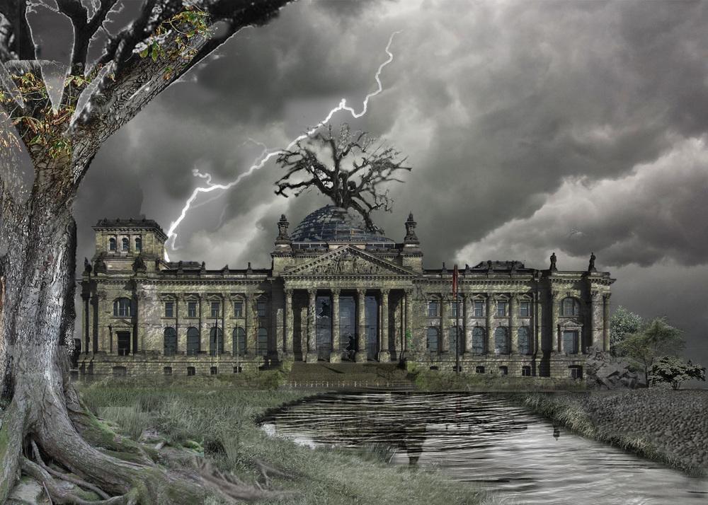 Reichstag building rendering