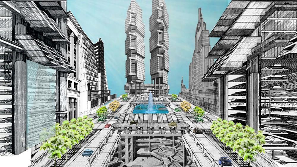 Cityscape collage