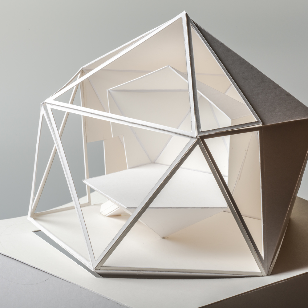 Icosahedron Inspired 150 Concept Model