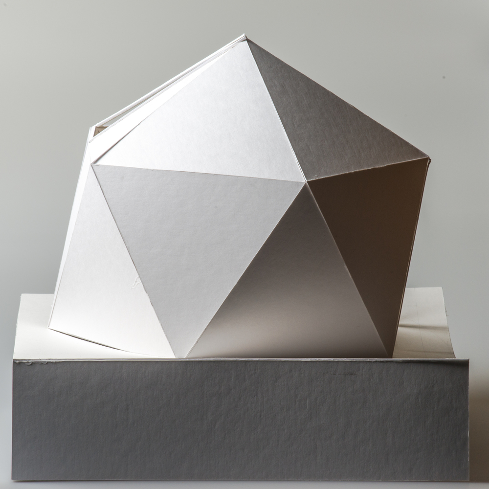 icosahedron inspired 1:50 concept model