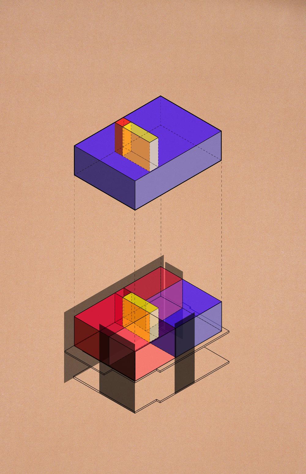 Rieveld-Schroder house axonometric diagram