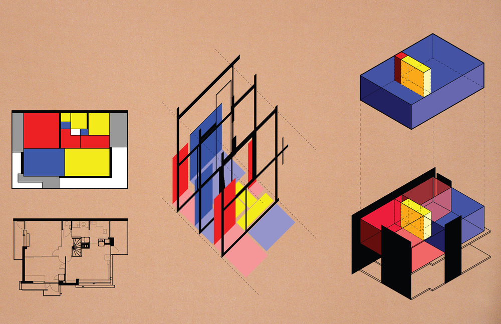 Rietveld Schroder house diagrams