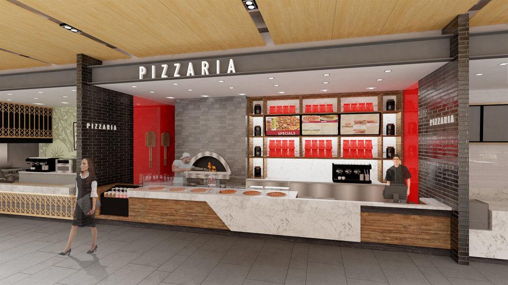 Proposed food court kiosk design