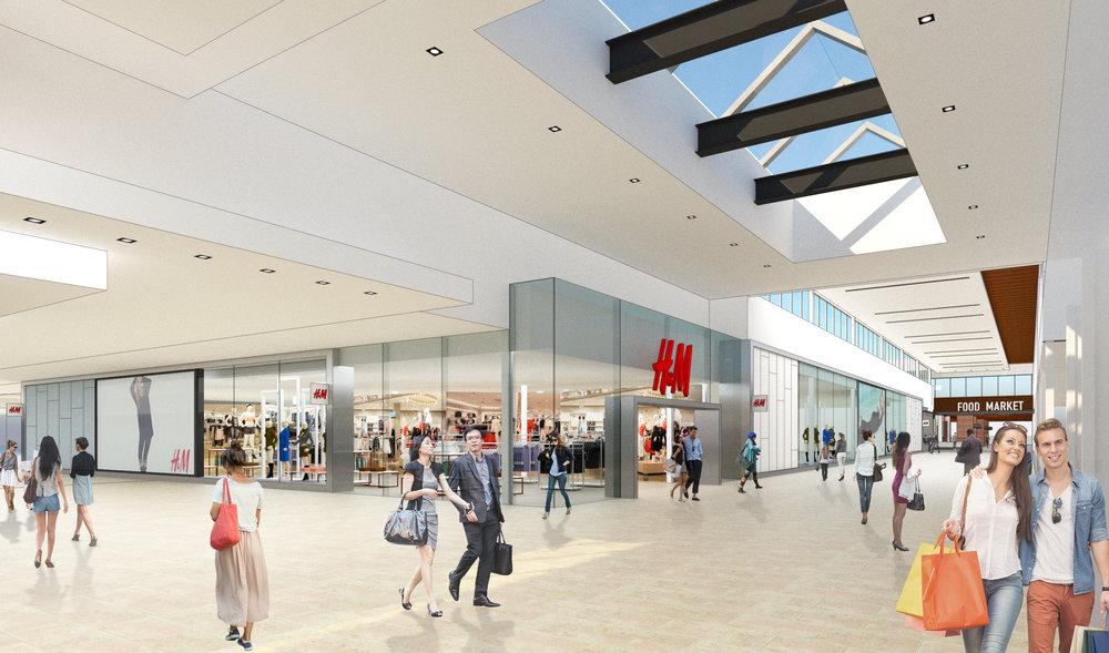 Proposed mall interior