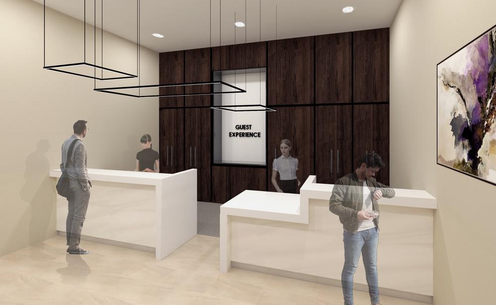 Proposed service area interior render