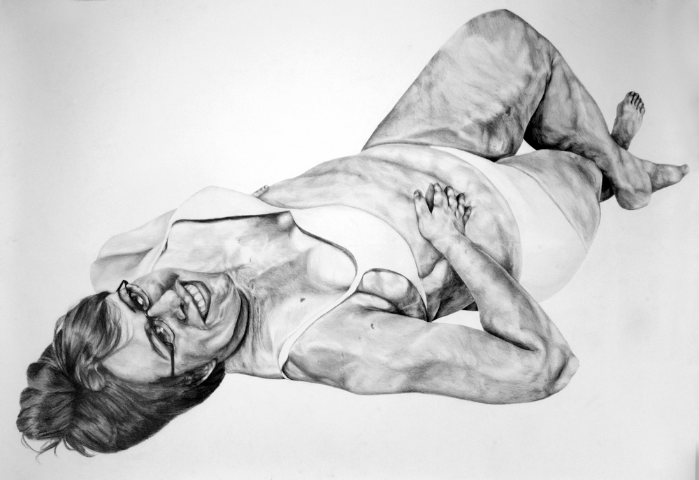 Susan Ahlfs, Rachael Elam , 2015, graphite on paper, 50 in. x 72 in.