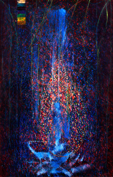 Elizabeth Erickson,   Hildegard's Grace  , 2010-15, oil on canvas, 60 in. x 42 in.