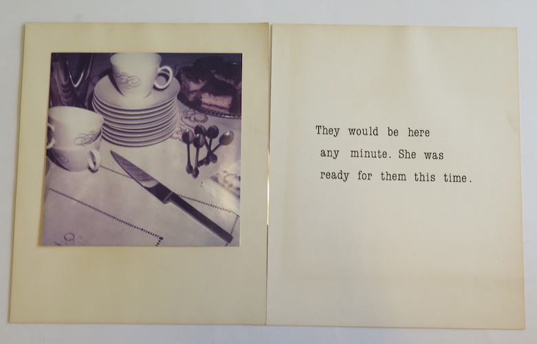 Alis Olsen,  Coffee Party , 1983, photograph and printed words,  21 in. X 32 in.