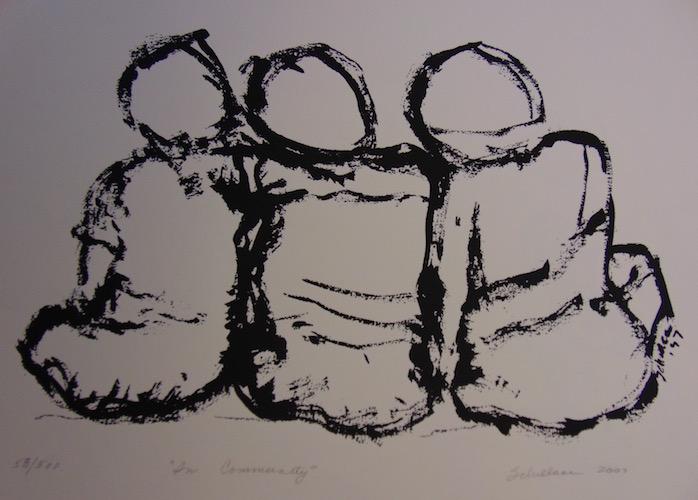 Ellen Schillace, In Community, 2007, print