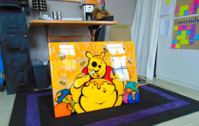 Work in Renee's studio