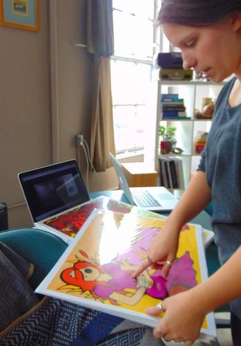 Renee in the studio