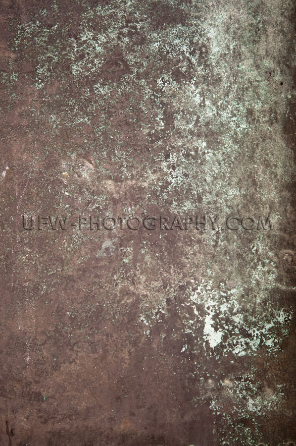 Dark brown light green bronze metal grunge background Stock Imag