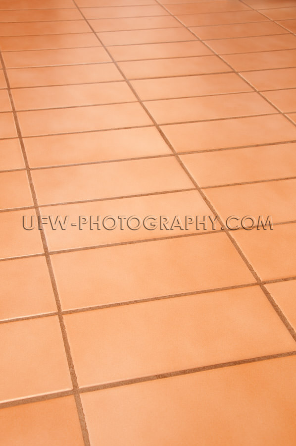 Floor rectangular terracotta tiles full frame background Stock I
