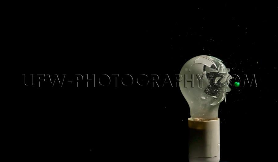 Light bulb glass incandescent tungsten smashed explodes destroye