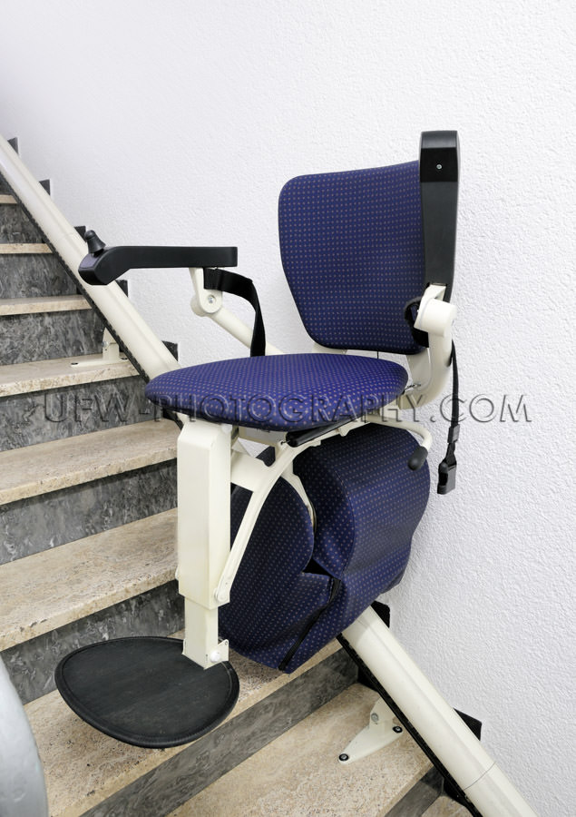 Stair lift elevator for physically impaired persons public build