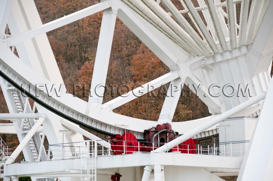 Steel construction engine radio telescope reflector dish Stock I
