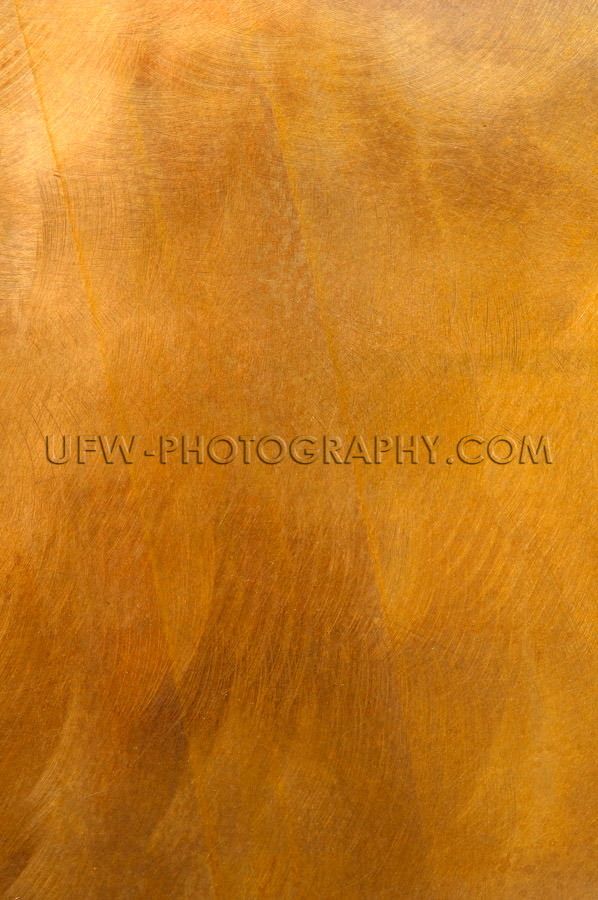 Golden metal plate mottled brass background XL Stock Image