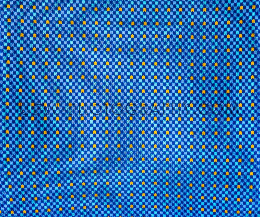 Blau Gelb Polster Stoff Textur Geometrisches Muster Vollformat H