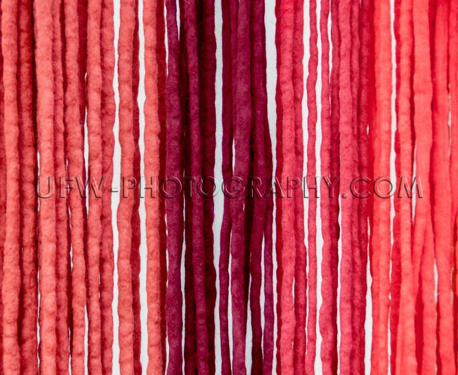 Filzbänder Abstufungen von Rot Hängend Lebendige Farben Für H