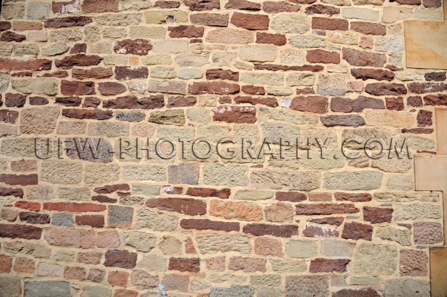 Mittelalterliche Steinmauer Farbig Altes Gebäude Hintergrund St