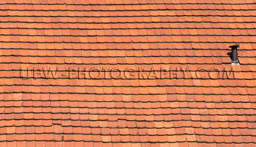 Rot Schindelbedecktes Dach Altes Haus Ländlich Vollformat Hinte
