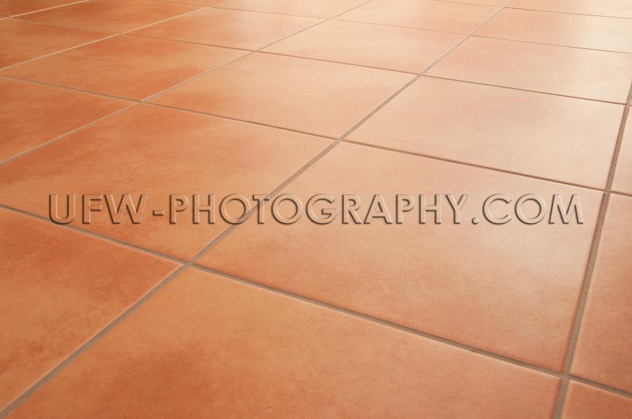 Terrakotta Boden Fliesen Sauber Hintergrund Fluchtpunktperspekti