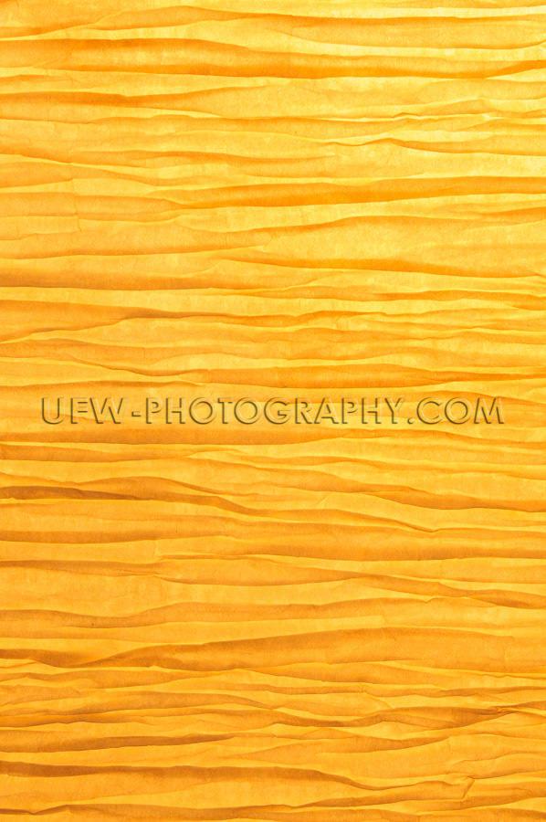 Zen-artig Faltig Papier Hintergrund Beleuchtet Goldenes Licht St