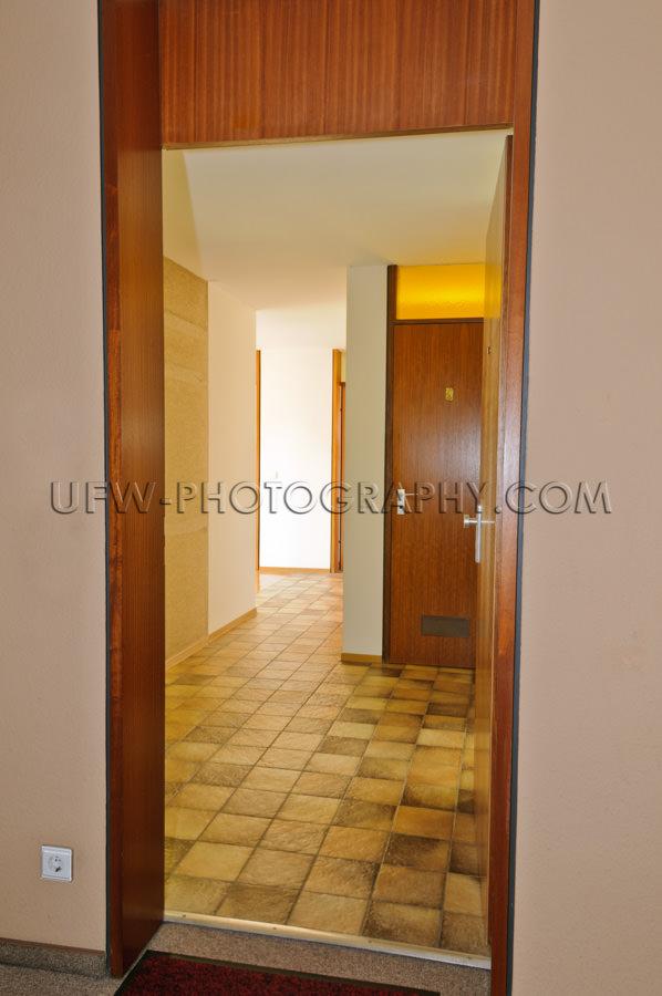 Eingang Traditionell Wohnung Offene Tür Flur Stock Foto