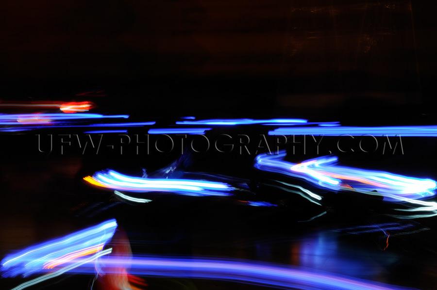 Abstrakt Bewegende Verkehrslichter Rot Weiß Blau Bewegungsunsch