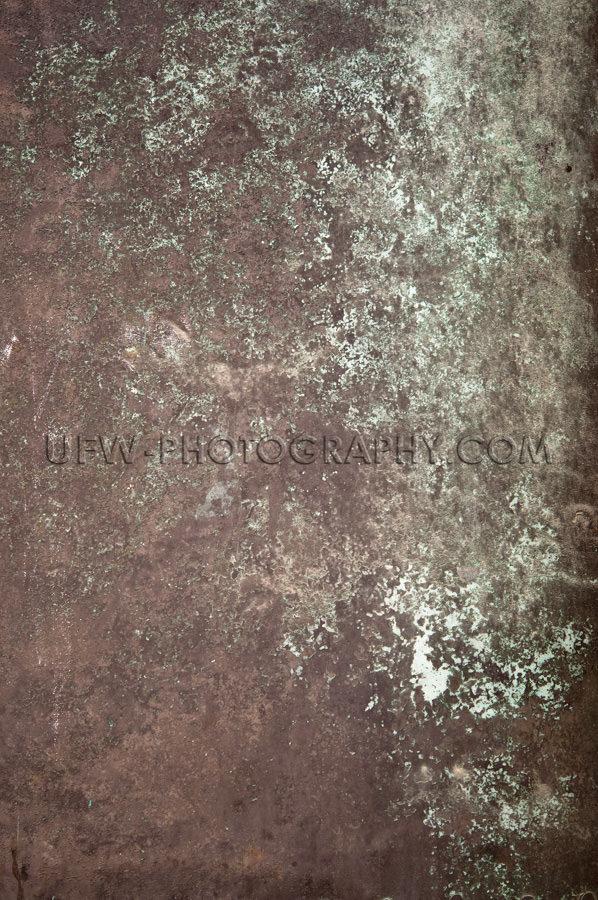 Dunkelbraun Hellgrün Bronze Metall Grunge Hintergrund Stock Fot
