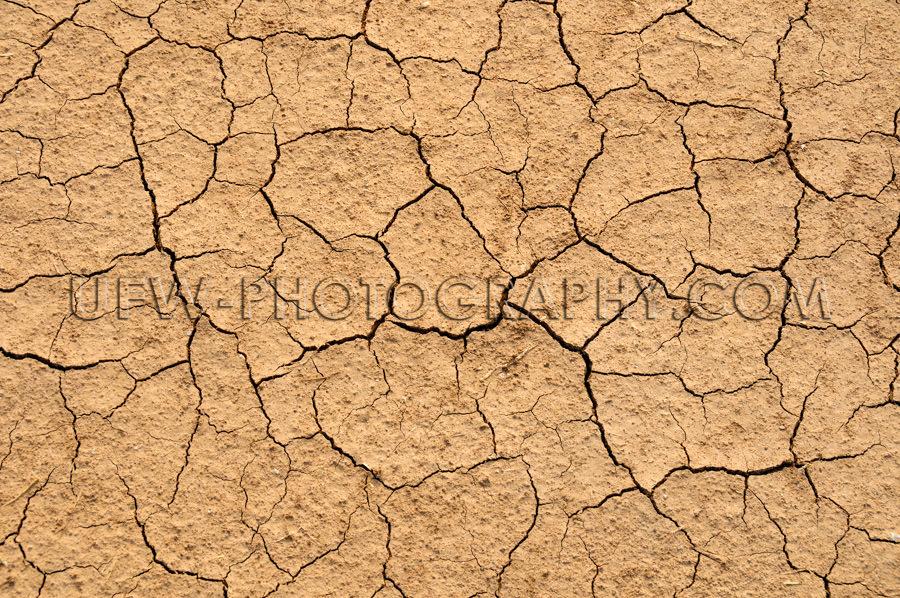 Gesprungen Trocken Ausgetrocknet Braun Boden Vollformat Dürre T