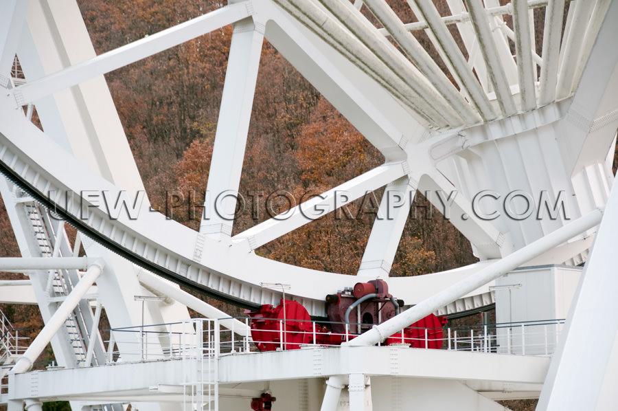 Stahl Konstruktion Motor Radioteleskop Reflektor Stock Foto