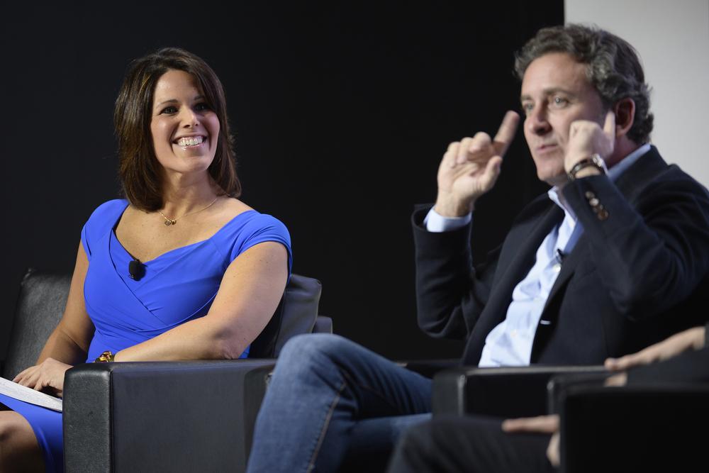 Dana Jacobson, host, CBS Sports & Alejandro Agag, CEO, Formula E