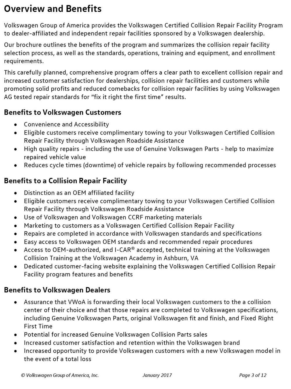 Volkswagen Collision Shop Certification NJ PARTS - Volkswagen collision repair