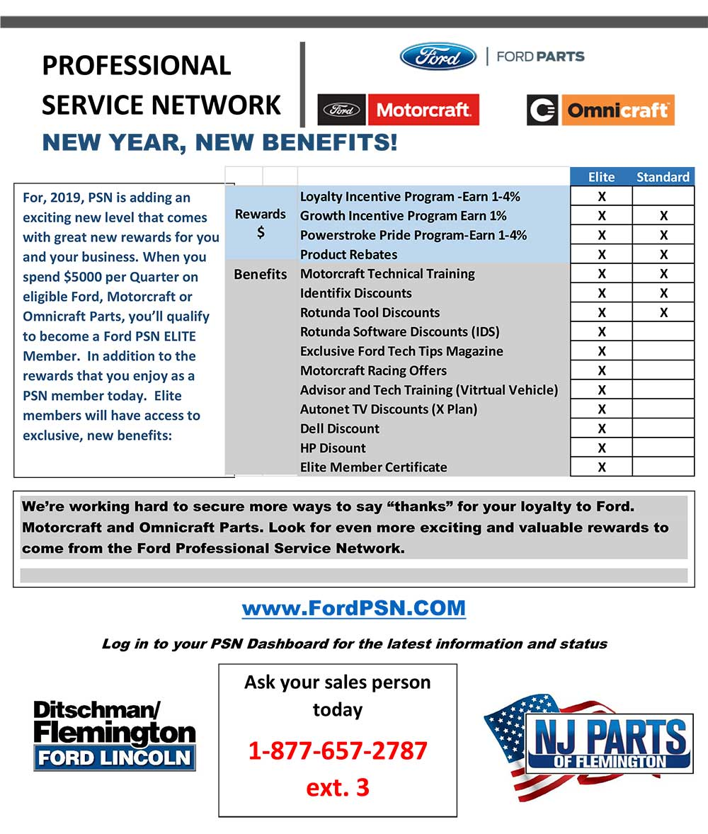 Become A Ford Psn Elite Member 877 Nj Parts Auto Parts Delivery