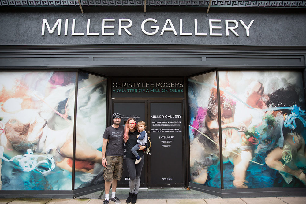 Christy Lee Rogers artist at Miller Gallery exhibit