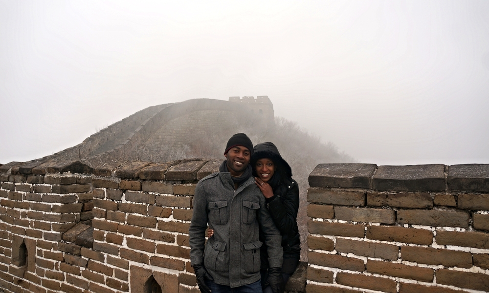 WE VISITED THE GREAT WALL EARLY IN THE MORNING, SO IT WAS PEACEFUL AND QUIET WITH VERY FEW OTHER TOURISTS.