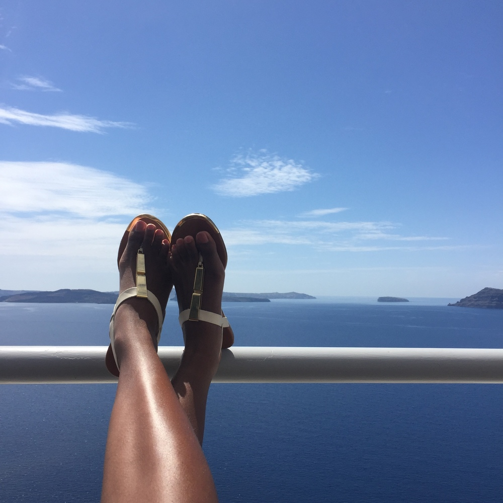 Santorini is stunning and you should make sure to spend ample time relaxing and taking in the views!
