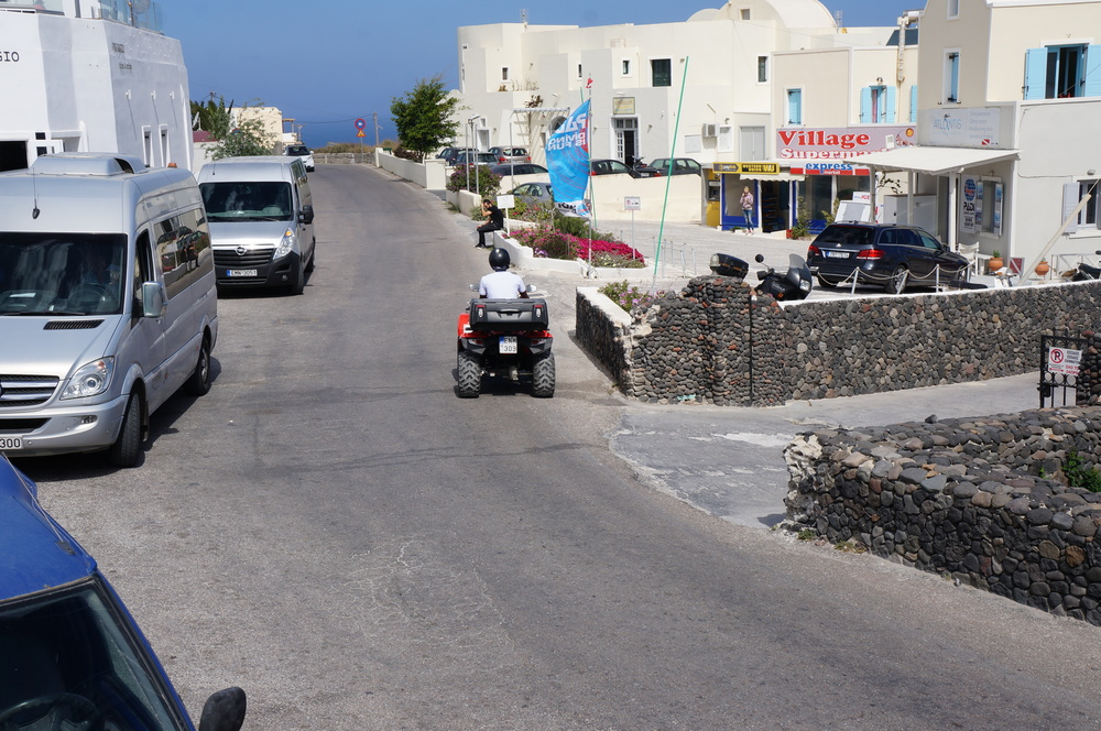 Santorini is so small, you can explore the island by ATV. Make sure to grab a map and wear your helmet!